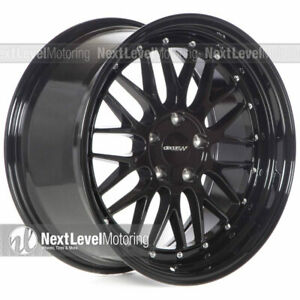 Circuit Cp30 188 18x9 5 114 3 35 Gloss Black Staggered Wheels Lm Style Mesh
