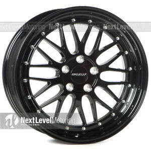 Circuit Performance Cp30 18x9 5 114 3 35 Gloss Black Wheels Lm Style Set Of 4