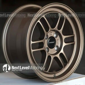 Circuit Cp37 15x7 4 100 28 Flat Bronze Wheels Rpf1 Style Fits Honda Civic Eg Ek