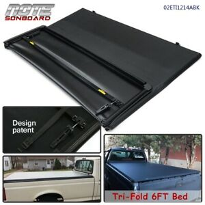 6ft Bed Lock Tri fold Tonneau Cover For 82 13 Ford Ranger 1994 2011 Mazda Pickup