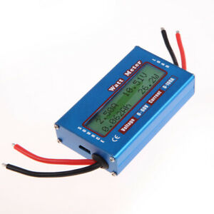 Simple Dc Power Analyser Watt Volt Amp Meter 12v 24v Solar Wind Analyzer
