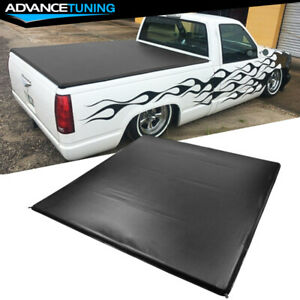Fits 88 02 Chevy C1500 Gmc K1500 6 5 Ft Truck Bed Quad 4 Fold Led Tonneau Cover