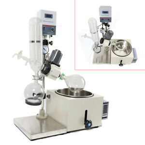 2l Lab Rotary Evaporator Laboratory Vacuum Evaporation Adjustable Rotation 99
