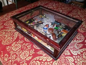 Vintage Wood And Glass Countertop Display Case Mercantile Showcase