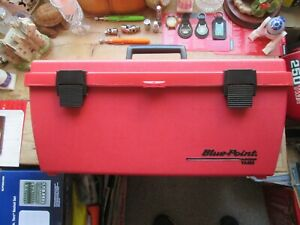 New Blue Point Classic Red Plastic Tool Box Removable Tote Tray New And Boxed