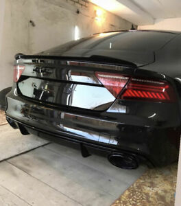 P Performance Carbon Trunk Spoiler Lip Extension For Audi A7 S7 Rs7 4g8