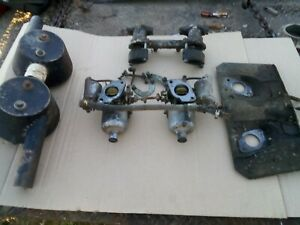 Hs4 Carburetor Set Intake Manifold Mgb Complete With Choke And Accel Linkage