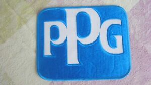 Ppg Embroidery Cloth Uniform Patch 6 X 7 1 2 Blue With White Letters