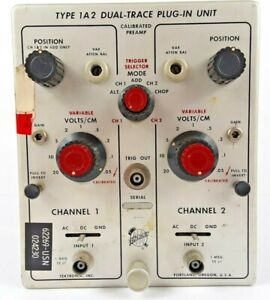 Tektronix Type 1a2 Dual Trace Plug In Unit