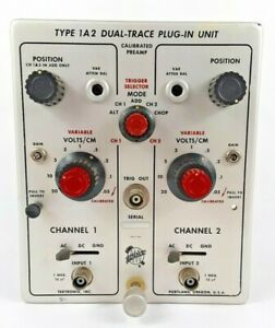 Tektronix Type 1 A 2 Dual Trace Plug in unit