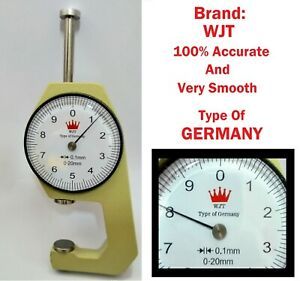 Wjt Type Of Germany Very Smooth Accurate Dial Caliper Thickness Gauge 20mm