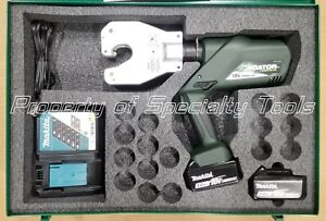 Greenlee Ek06atl Gator Battery Hydraulic Dieless 6 Ton Crimper Battery Crimping