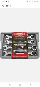 New Gearwrench 4 Pc Metric Large Size Ratcheting Combination Wrench Set 9413