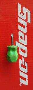 Snap On Tools Flat Tip Stubby Green Hard Handle Screwdriver Shd1g Ships Free