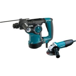 7 Amp Corded Sds plus Concrete Masonry Rotary Hammer Drill W Angle Grinder Case