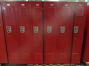 Misc Brand Locker Red section Of 6 Lockers Used