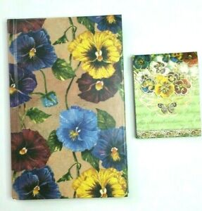 Lot Of 2 Pansies Butterfly Notepads