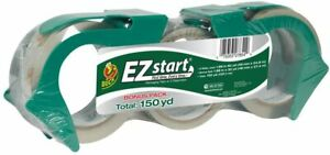 Duck Brand Ez Start Packaging Tape 1 88 Inches X 150 Yards Clear 3 Pack 1079097