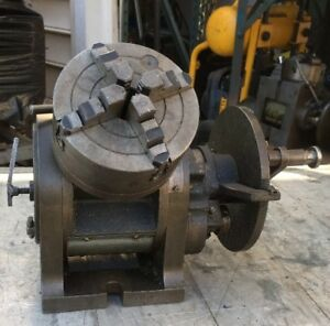 10 Cincinnati Universal Dividing Head 6 4 Jaw Chuck Milling Machine Gear Cut