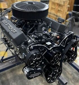 383 Stroker Crate Engine A C 507hp Roller Turnkey Pro Street Chevy Sbc 383 383