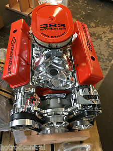 383 Stroker Roller Crate Engine Chevy Turnkey 440hp With A C Belt Drive Kit Look