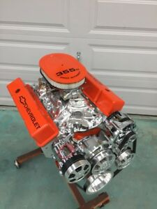350 Sbc Crate Motor 420 460hp With A C Roller Chevy Turnkey New Gm 4 Blot Block