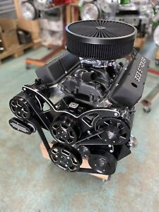383 Stroker Crate Engine A c 535hp Roller Turnkey Pro Street Chevy Sbc 383 383