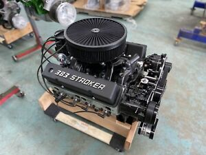 383 Afr Stroker Crate Engine A c 550hp Roller Turnkey Chevy New Gn 4 Blt Block
