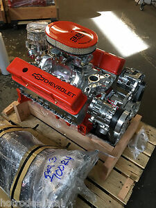 383 Chevy Crate Stroker Motor 511hp Sbc With A C Roller Turn Key 700r4 Included