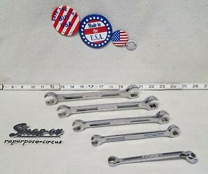 Snap On Usa 5 Piece 6 Point Sae Double End Flare Nut Wrench Set 5 16 13 16