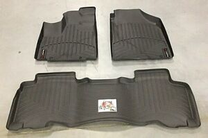 Weathertech 440411 440222 Floorliner For Acura Mdx Honda Pilot 1st 2nd Row Black