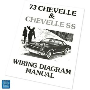 1973 Chevelle Chevelle Ss Wiring Diagram Manual Brochure Each