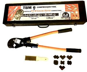 Thomas And Betts Tbm8 Compression Tool Crimper With 8 Dies And Brush 60000