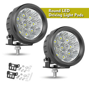 3 5 Round Led Spot Light Pods Work Flood Driving Fog Lamp Offroad 4wd Atv Truck