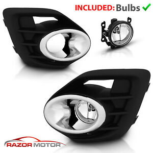Glass Lens Fit 2015 2017 Mitsubishi Lancer Bumper Lamps Fog Lights W Switch Bulb