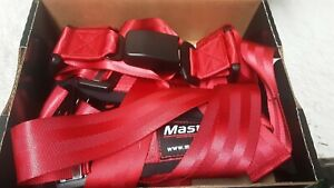 Impact Racing Style 4 Point Bolt Down Safety Belt Harness Trail Runner Restraint