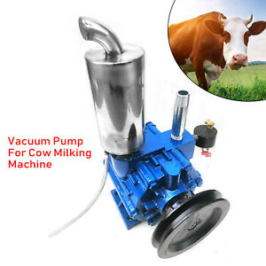 220l min Vacuum Pump For Cow Milking Machine Milker Bucket Tank Barrel Cattle Us