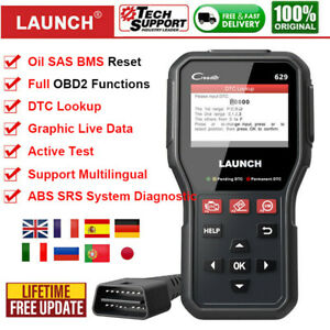 Launch Cr629 Obd2 Car Abs Srs Diagnostic Tool Auto Code Reader Sas Bms Oil Reset