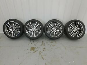 2015 2019 Ford Mustang Gt V6 Ecoboost 18 X8 0 Rims And Tires Set Oem