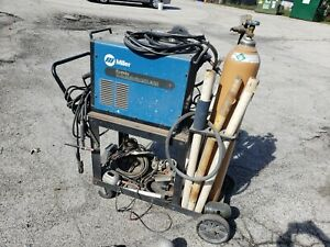 Miller Econotig Tig Welder With Argon Gas Bottle Cart And Accessories