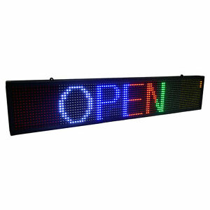7 5 x39 Led Self design Programmable Scrolling Message Open Sign Display Board