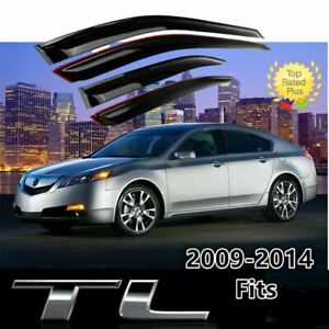 Fit For Acura Tl 2009 2014 Window Visor Vent Sun Shade Rain Guard Deflectors
