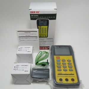 Der Ee De 5000 High Accuracy Handheld Lcr Meter Tl 21 Tl 23 Set Tools New