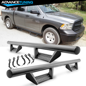 Fits 09 18 Dodge Ram Crew Cab Bck Style Side Step Running Boards