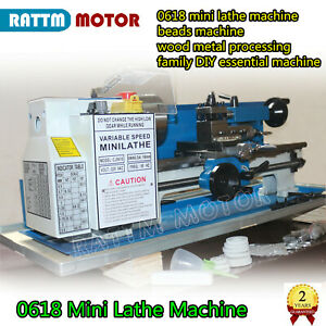 550w Mini Lathe Machine Woodworking Turning Metal Thread Drilling 100mm 3 Chuck