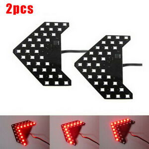 2x Super Red 33smd Sequential Led Arrows Car Side Mirror Turn Signal Flash Light