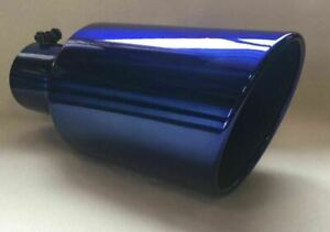 Lollypop Blue 5 Inlet 7 Outlet 15 Long Diesel Exhaust Tip