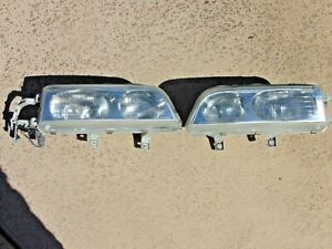 1991 95 Acura Legend Sedan Headlight Assemblies W Restored Clear Lenses Pair