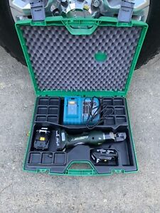 Greenlee Gator Ets12l Cutter Wire Cutting Tool 3 Batteries Charger Case