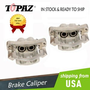 New Front Brake Caliper Pair For 1999 2004 Ford Excursion F 350 F 250 Super Duty